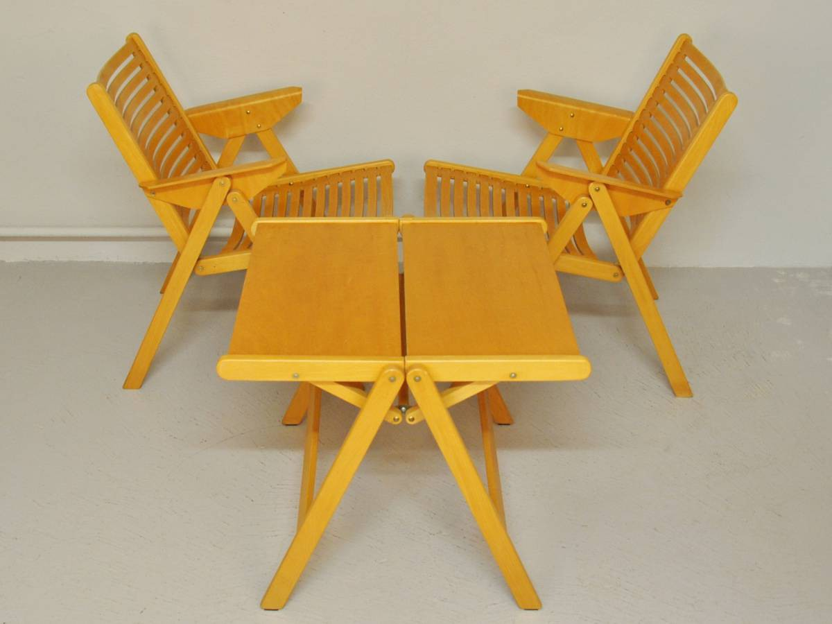 Set Of Two Quot Rex Quot Chairs And A Table By Niko Kralj Novac