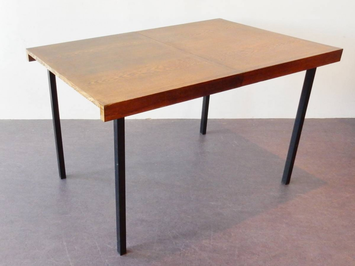 Model 39 weert 39 extendable dining table in weng wood by for New model dining table